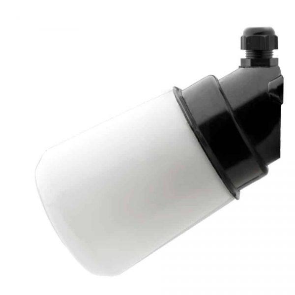 164358 Wand Stallamp met Conisch Melkglas