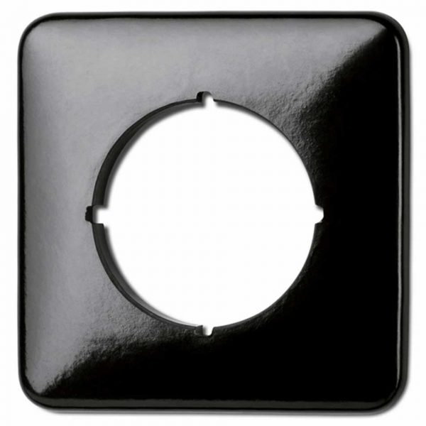 119328 afdekraam vierkant zwart bakeliet