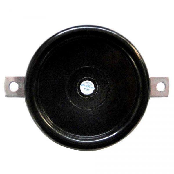 173040 Blindplaat inbouw zwart bakeliet