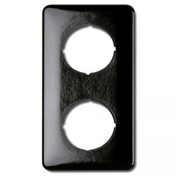 173064 Afdekraam 2voudig zwart bakeliet