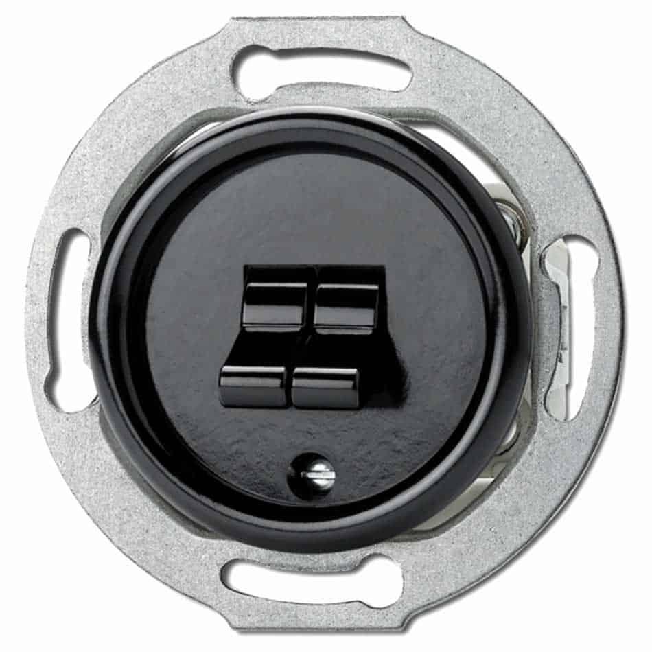 100571 Tuimelschakelaar Serie inbouw Zwart Bakeliet