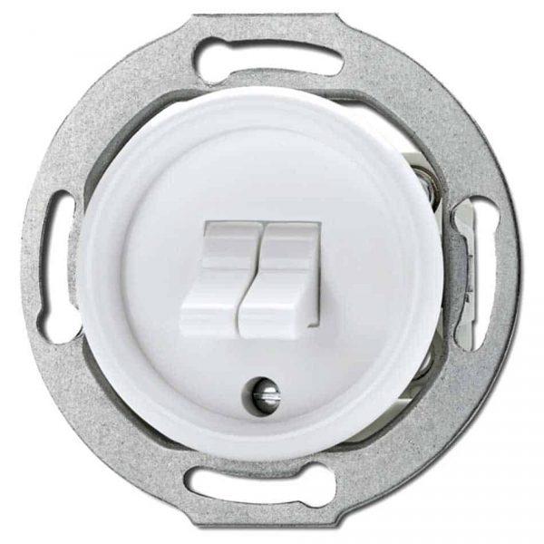 100572 Tuimelschakelaar Serie inbouw wit Bakeliet