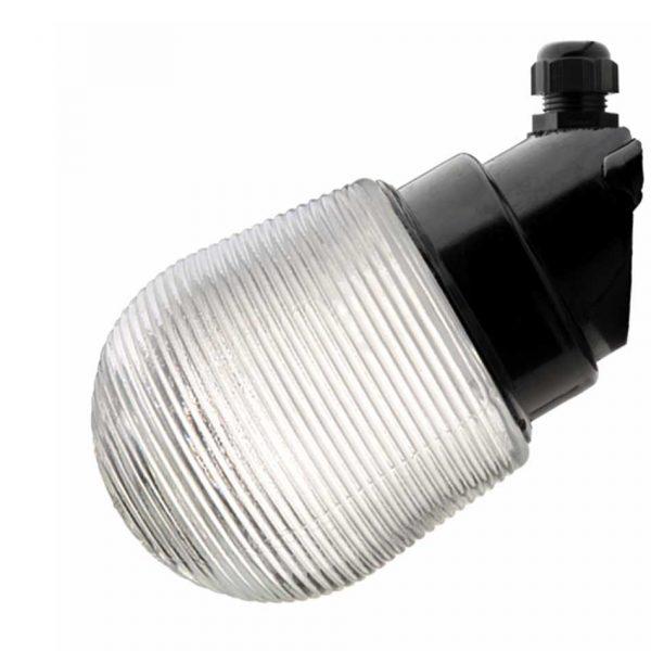 164363 Wand Stallamp met geribbeld glas