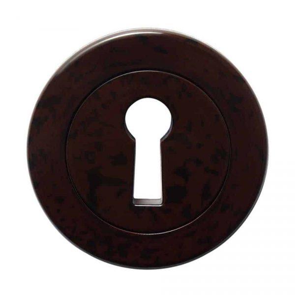 62631 Sleutelplaat verborgen bevestiging bruin/zwart gevlamd bakeliet