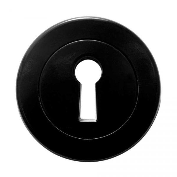 62632 Sleutelplaat met verborgen bevestiging in zwart bakeliet